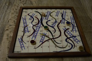 "The game ""Snakes and Ladders"""